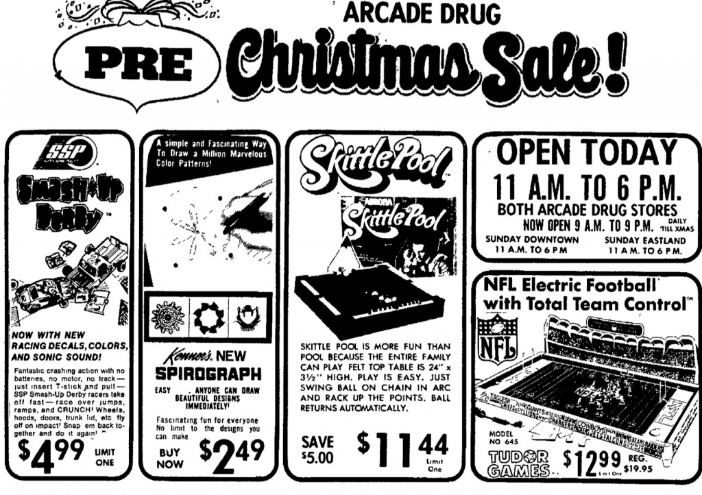 1974 Electric Football Thanksgiving Day Ad