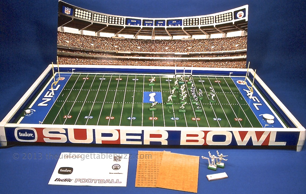 Electric Football 1969 Sears Tudor Super Bowl III NFL AFL Jets Colts Namath