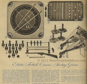 Electric Football in the 1955 Montgomery Ward Christms Catalog
