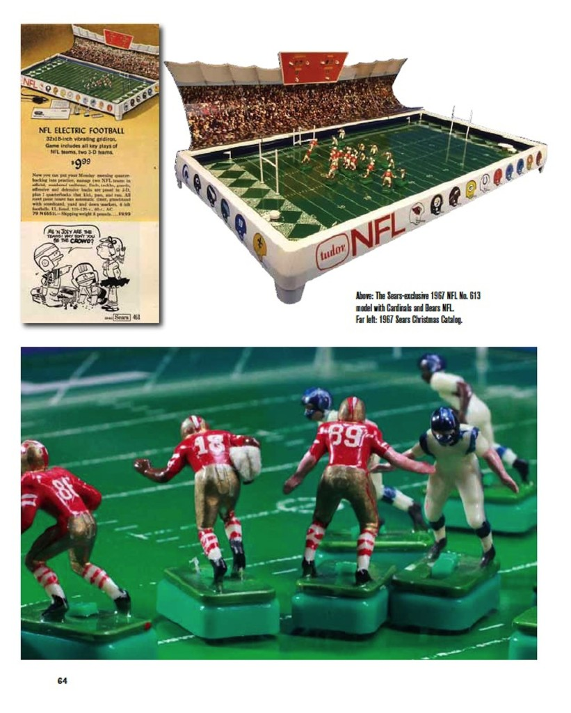 Full Color Electric Football book page 64 NFL Sears No. 613 game bears cardinals
