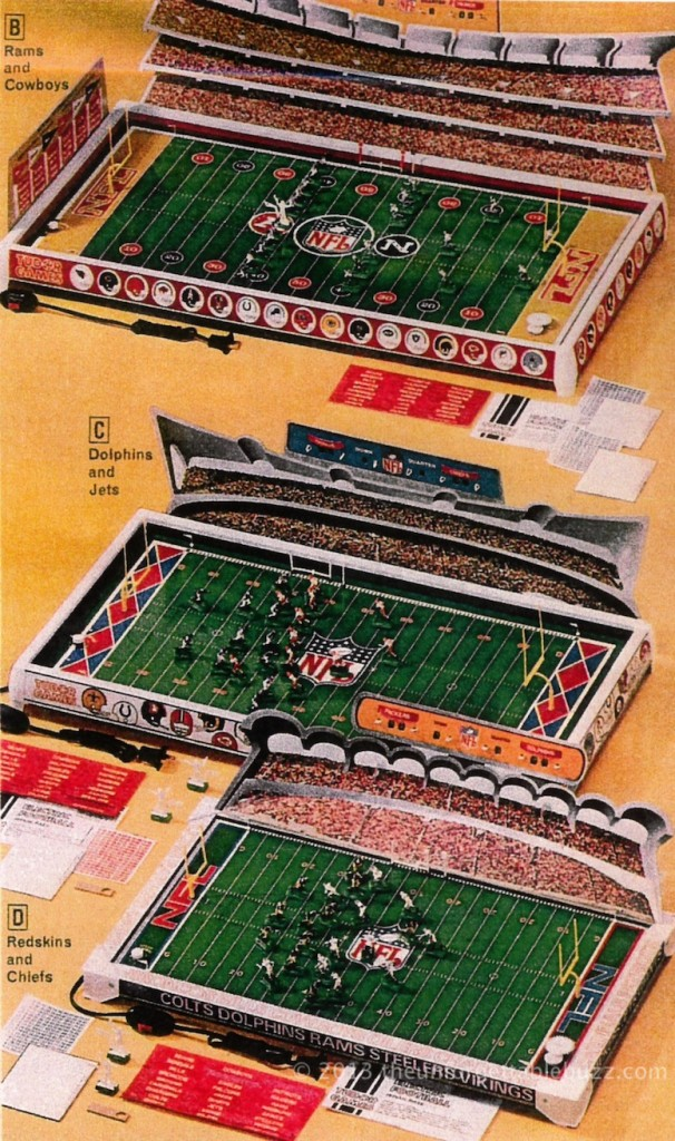 Tudor NFL Electric Football in the 1976 JC Penney Christmas Catalog