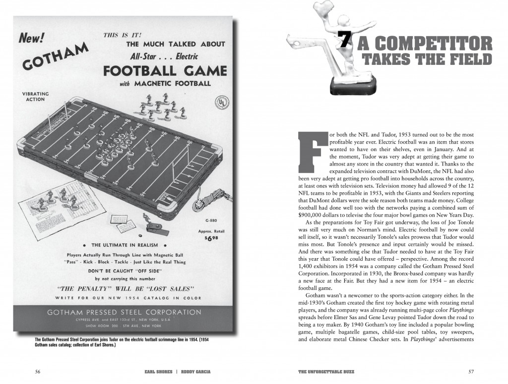 The spread of Chapter 7 of The Unforgettable Buzz - A Competitor takes the field