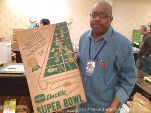 René Smith with his 1968 Otasco Tudor No. 500 Super Bowl - a game the we didn't know existed!