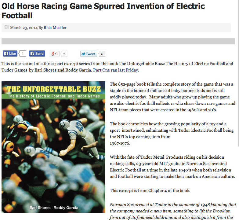 Electric Football Book Excerpt #2