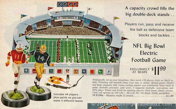 Gotham Big Bowl Electric Football game from the 1966 Sears Christmas