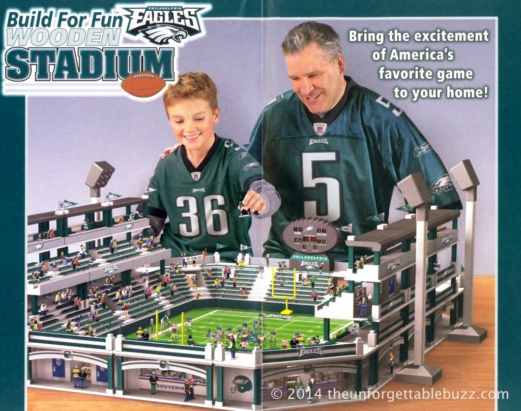 A flier for the Hawthorne Village Build For Fun Wooden NFL Stadium