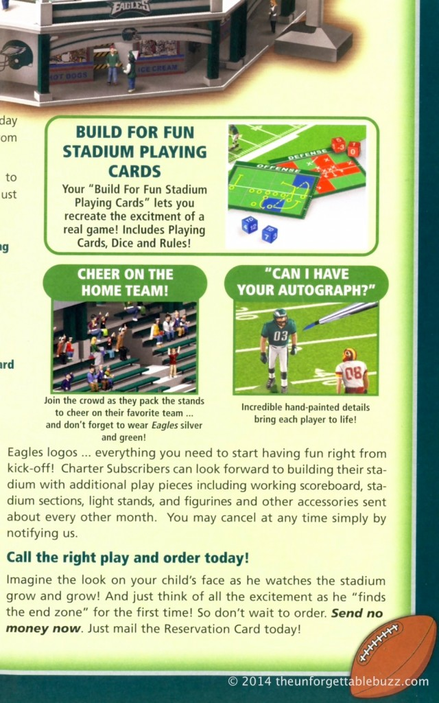 Electric Football Book The Unforgettable Buzz Eagles NFL stadium