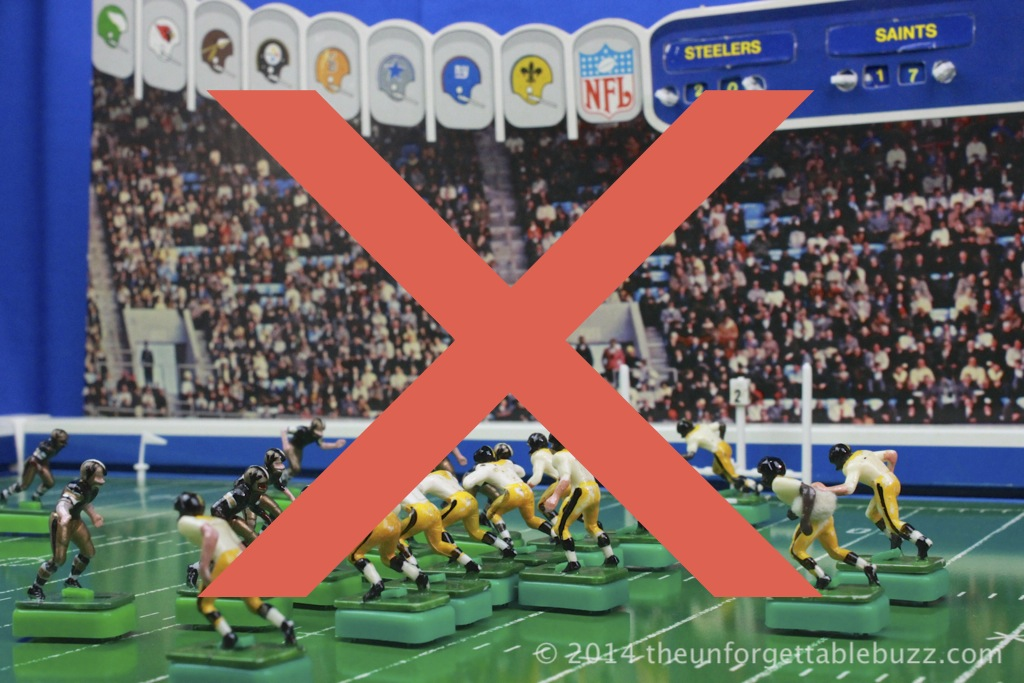 Tudor NFL Electric Football Game with a big X