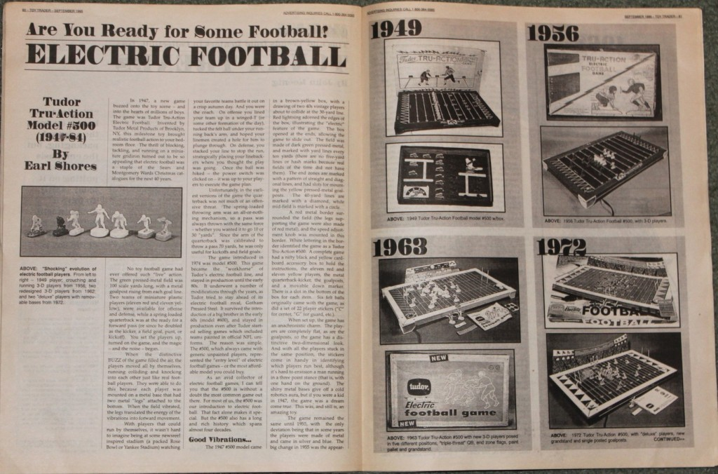 1995 Toy Trader Electric Football article