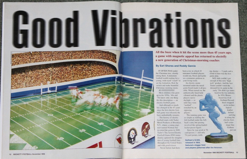 1996 Beckett Football Monthly Electric Football article