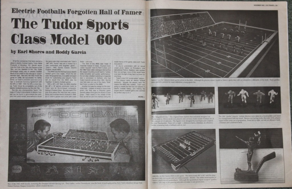 1997 Toy Trader Electric Football Article