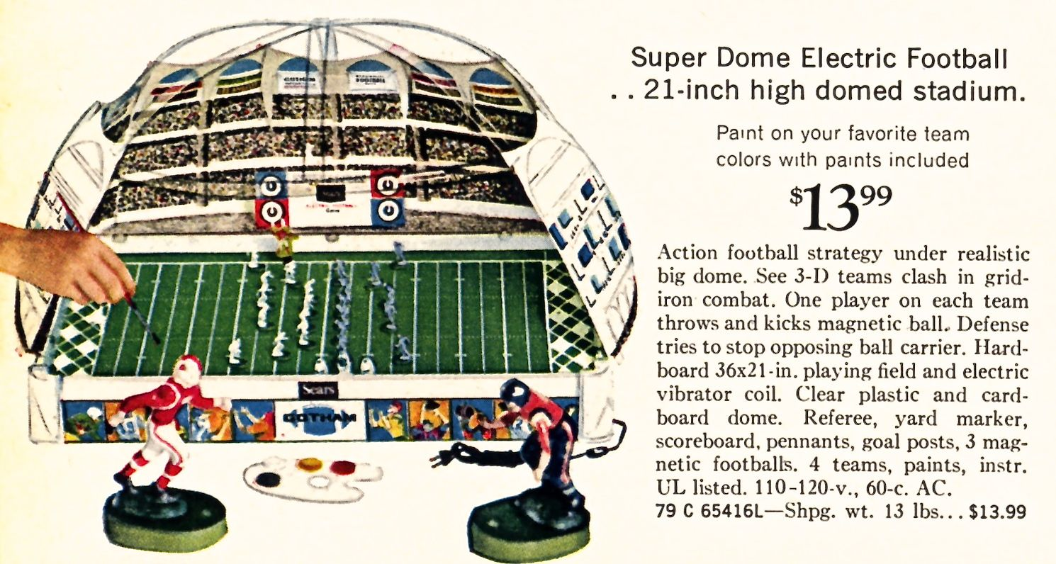 The 1969 Gotham Super Dome Electric Football game