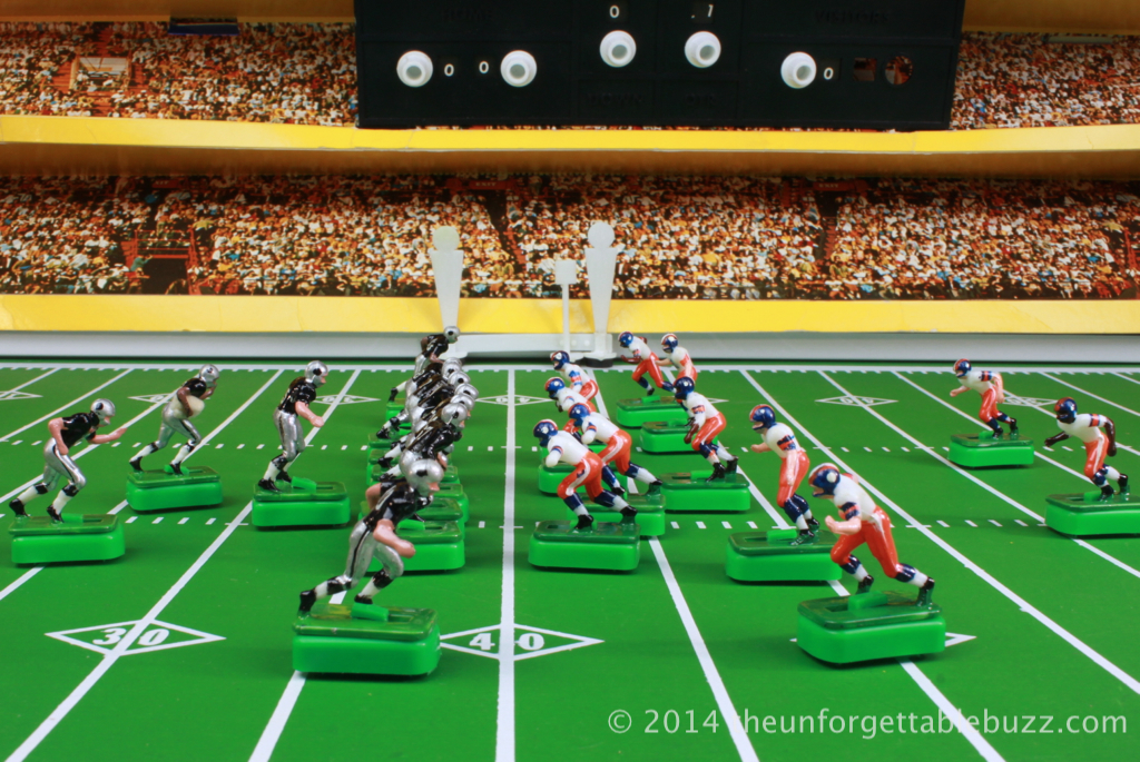 Tudor Raiders and Broncos on 1972 Munro Day Nite Electric Football Game