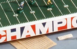 The Tudor Ice Bowl Prototype Electric Football game in color.