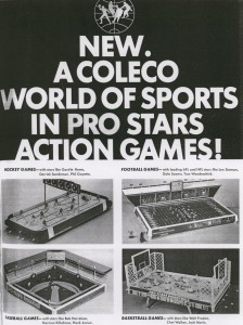 A 1970 toy trade ad for the Coleco World of Sports