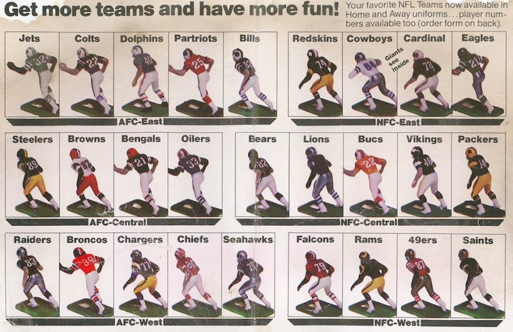 Tudor NFL Teams from the 1979 Rule Book