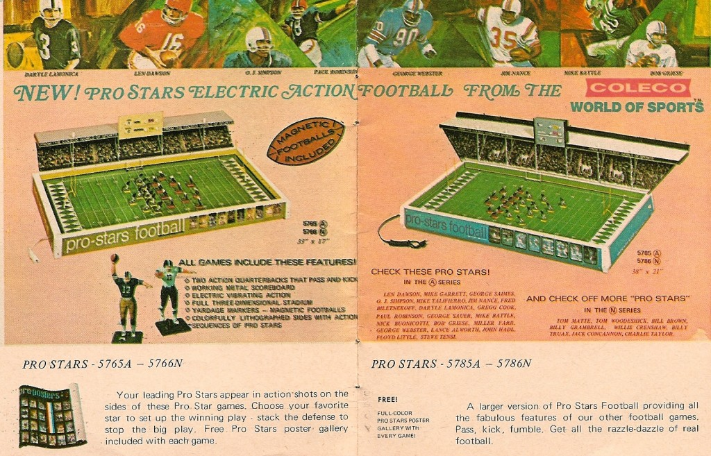 Coleco's 1970 Pro Stars games
