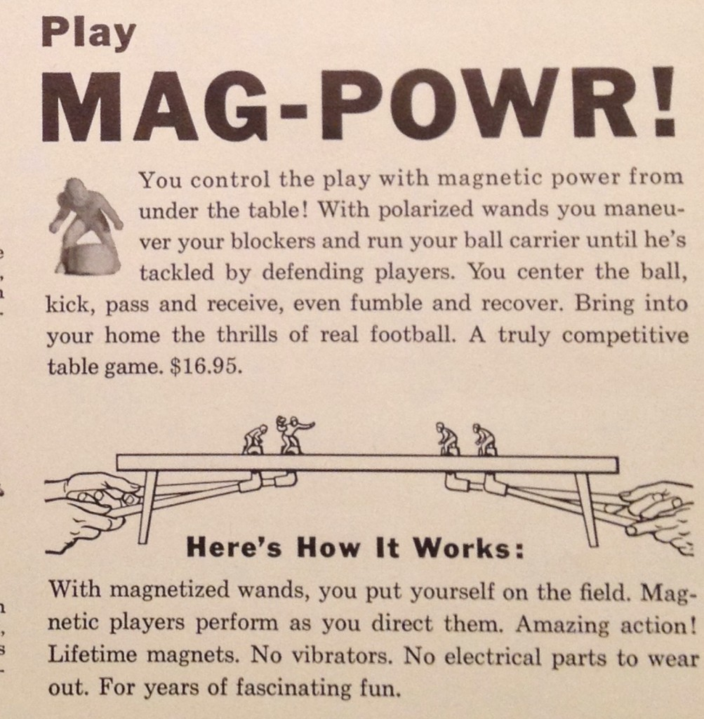 Instructions for how Mag-Powr Football works