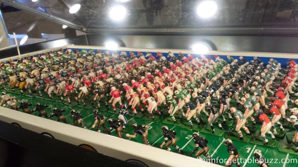 Lineup of 1967 Tudor NFL Electric Football teams