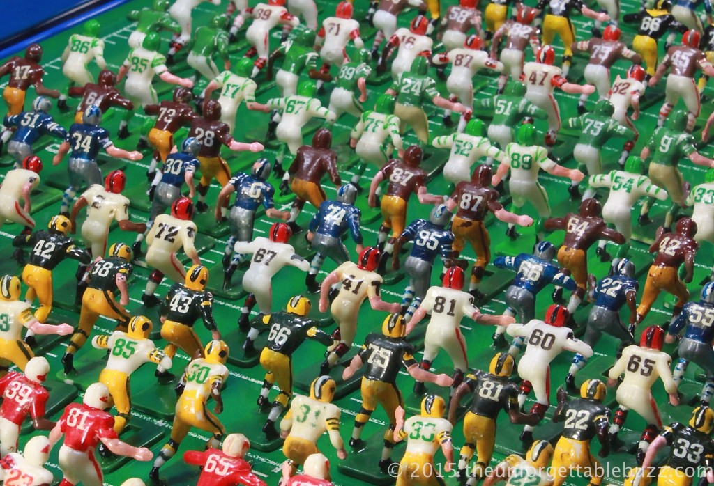 Lineup of 1967 Tudor Electric Football players